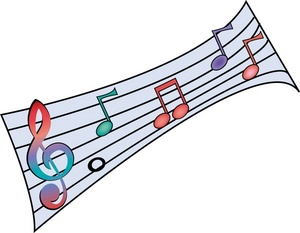 music clip art a treble clef and colorful music notes 0515 0908 3120 1351 SMU